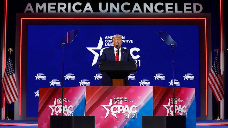 Бывший президент США Дональд Трамп на конференции консервативных кругов США, 28 февраля 2021 года