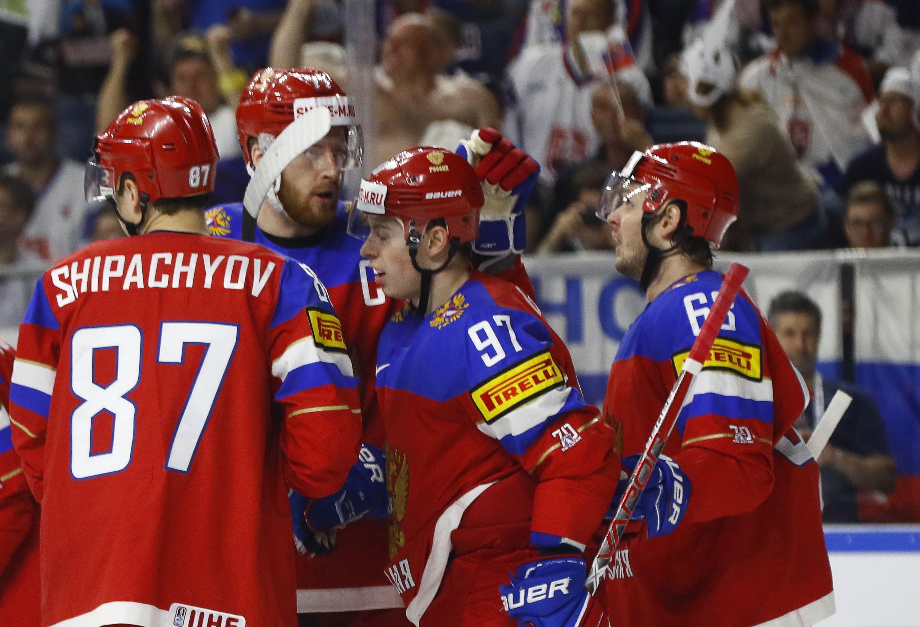 Россия чм по хоккею словакия
