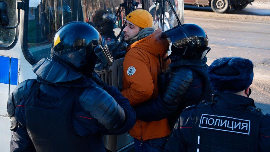 Задержания у здания Мосгорсуда перед началом заседания по делу Алексея Навального, 2 февраля 2021 года