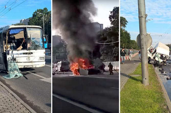 Последствия аварии на Волоколамском шоссе, 25 июля 2017 года