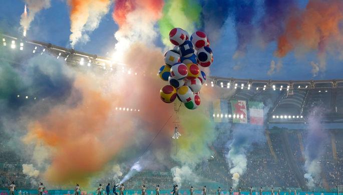 Во время церемонии открытия Евро-2020 в Риме, 11 июня 2021 года