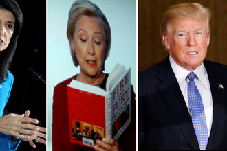 Никки Хейли, Хиллари Клинтон и Дональд Трамп (коллаж)