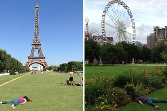 Эйфелева башня и Сад Тюильри в Париже