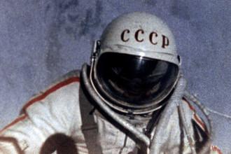Космонавт Алексей Леонов в открытом космическом пространстве, 18 марта 1965 года