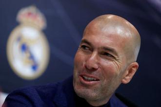 Зинедин Зидан на презентации после возвращения на пост главного тренера «Реала»