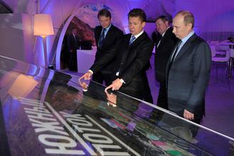 Владимир Путин принял участие в церемонии запуска строительства газопровода «Южный поток»