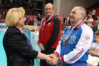 Александр Кариков на церемонии награждения