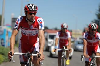 Велогонщики «Катюши» на тренировке перед «Тур де Франс»