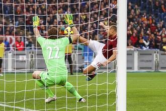 Франческо Тотти сравнивает счет в матче с «Лацио»