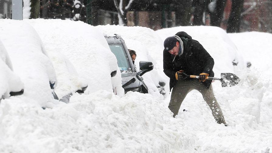Желтый снег выпал в Ульяновской области