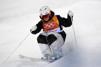 Российская спортсменка Регина Рахимова в соревнованиях по фристайлу в дисциплине могул на Олимпиаде-2018