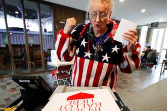 На одном из избирательных участков в штате Айова, 6 ноября 2018 года