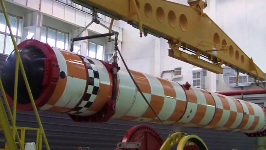Во время испытания подводной лодки — носителя беспилотного комплекса «Посейдон», 2019 год (кадр из видео)