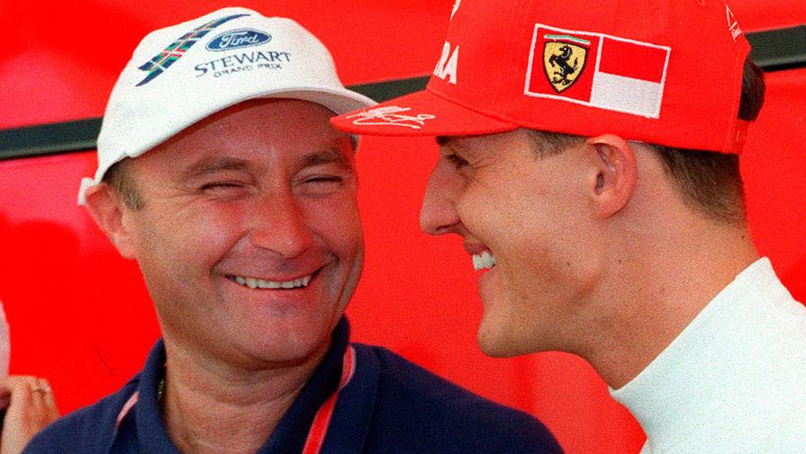 Фил Коллинз и Михаэль Шумахер на Гран-при Германии «Формулы-1», 1997 год
