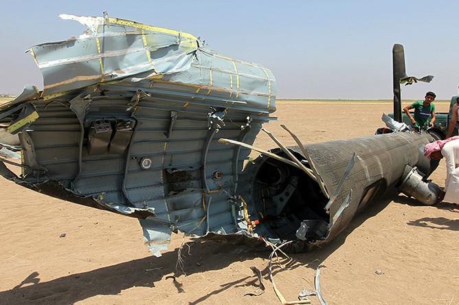 На месте крушения российского вертолета Ми-8