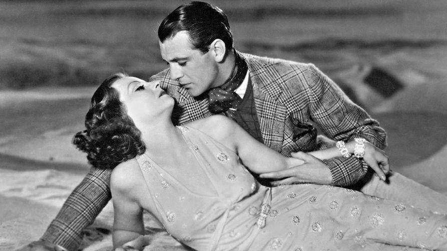 Актеры Таллула Бэнкхед и Гэри Купер в фильме «Дьявол и глубина» (1932)