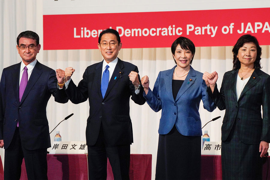 Кандидаты напост премьер-министра Японии от правящей Либерально-демократической партии