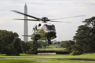 Вертолет VH-92 во время посадки на Южной Лужайке Белого дома в Вашингтоне, сентябрь 2018 года