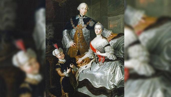Княгиня Екатерина Алексеевна с супругом Петром III Фёдоровичем
