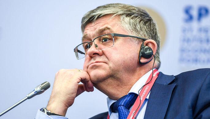 Замминистра здравоохранения России Сергей Краевой на сессии экономического форума в Санкт-Петербурге, 2018 год