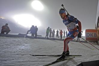 Антон Шипулин победил в спринте в Антхольце
