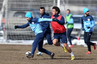 Футболисты «Зенита» готовятся к матчу с «Крыльями»