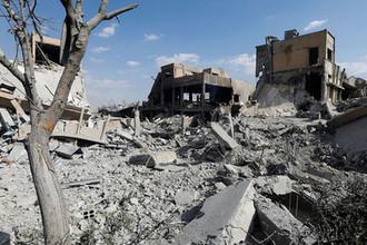 Разрушенный научно-исследовательский центр в Дамаске после удара, 14 апреля 2018 года
