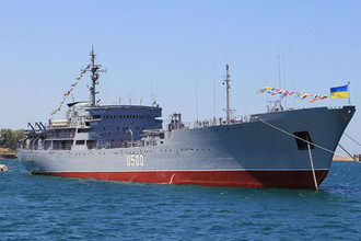 Корабль управления ВМС Украины U500 «Донбасс», 2012 год