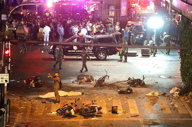 На месте взрыва в центре Бангкока