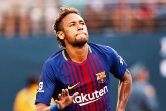 Бразильский нападающий «Барселоны» Неймар отметился дублем в товарищеском матче с «Ювентусом»