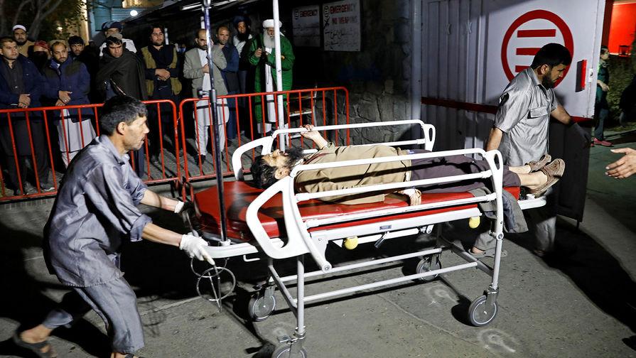 Пострадавший на месте теракта в Кабуле, 20 ноября 2018 года