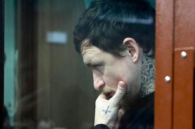 Футболист Павел Мамаев на заседании Тверского районного суда Москвы, 6 февраля 2019 года