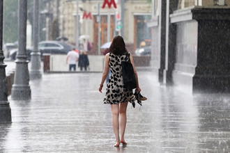 Ливень в центре Москвы, 30 июня 2017 года