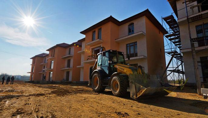 Строящийся жилой комплекс в Крыму