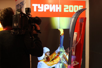 Факел Олимпиады-2006 в Турине