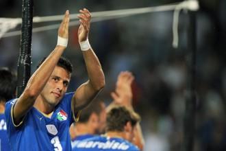 Фабио Гроссо во время одного из матчей за сборную Италии в большом футболе в 2009 году