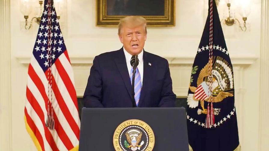 Президент США Дональд Трамп во время обращения, 8 января 2020 года