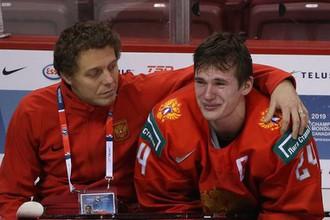 Нападающий и капитан сборной России по хоккею на молодежном чемпионате мира — 2019 Клим Костин