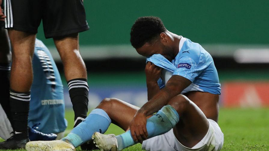 Рахим Стерлинг плачет после поражения «Манчестер Сити» от «Лиона»