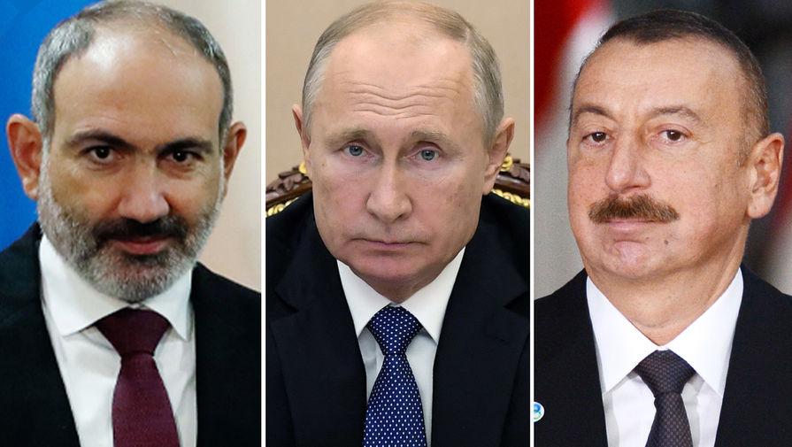 Переговоры Алиева и Пашиняна пройдут в Москве 11 января по инициативе Путина