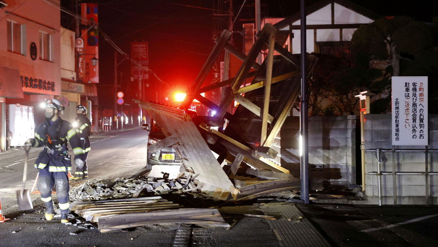 Число пострадавших от землетрясения в Японии продолжает расти