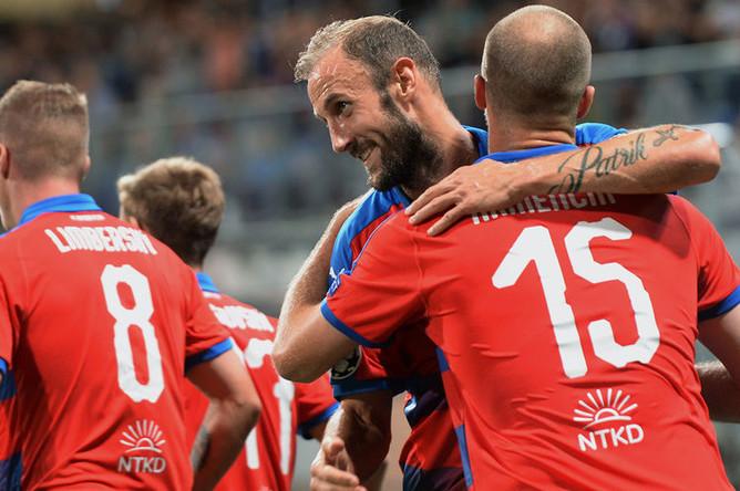 Во время матча группового этапа Лиги чемпионов УЕФА между ФК «Виктория» и ПФК ЦСКА, 19 сентября 2018 года