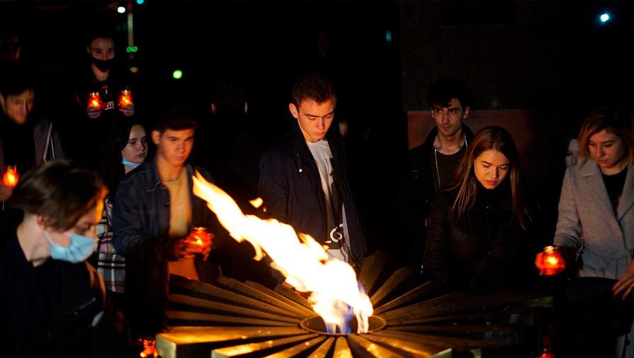 Вечный огонь в Кишиневе зажгли