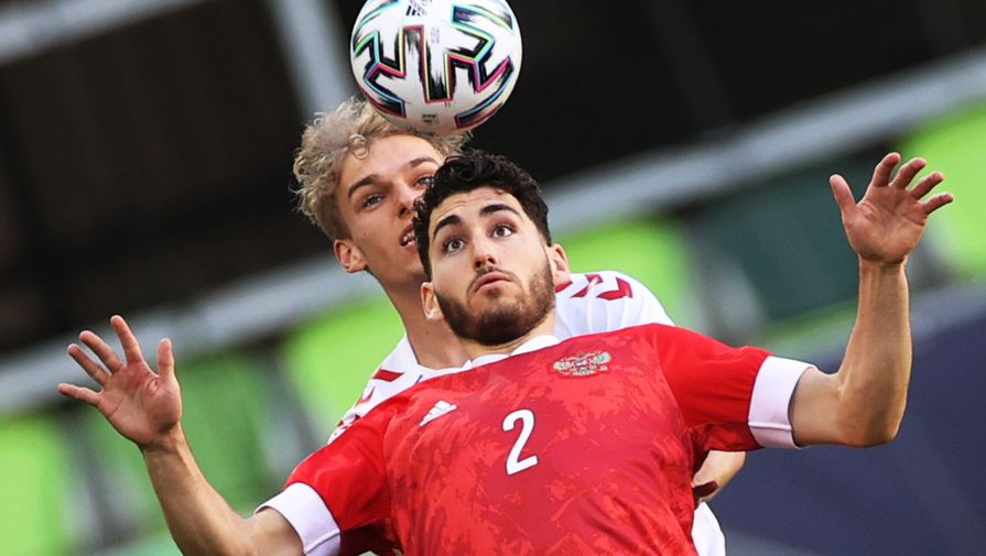 Эпизод матча Дания- Россия