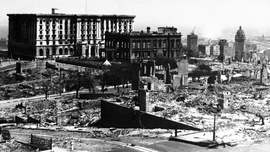Сан-Франциско после землетрясения, 18 апреля 1906 года