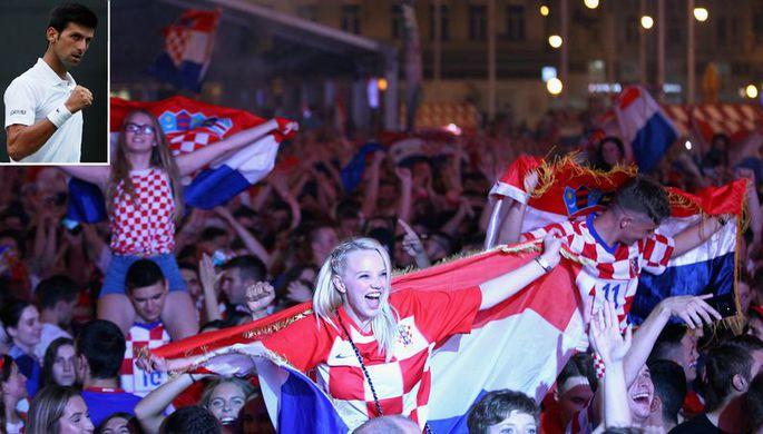 Новак Джокович и хорватские болельщики