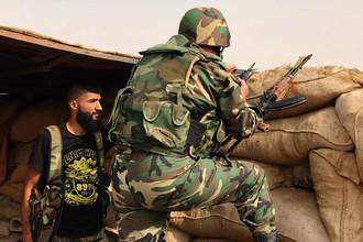 Сирийская армия и бойцы народного ополчения в районе Джафра в Дейр-эз-Зоре, 20 сентября 2017 года