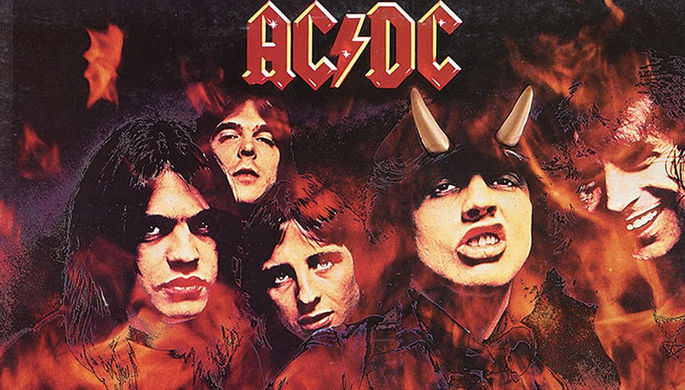Обложка альбома «Highway to Hell» группы AC/DC