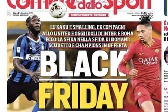Обложка итальянской газеты