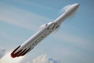 Изображение проектируемой ракеты Falcon Heavy